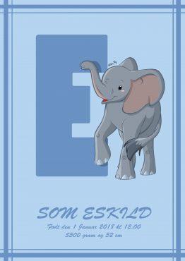 Navneplakat med E
