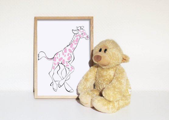 Giraf til fingeraftryk