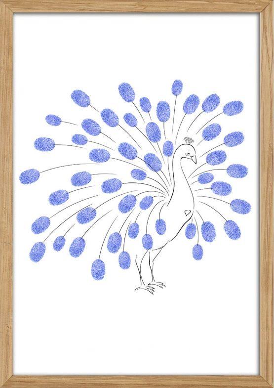 Påfugl til fingeraftryk