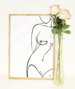 Minimalistisk nøgen kvinde front