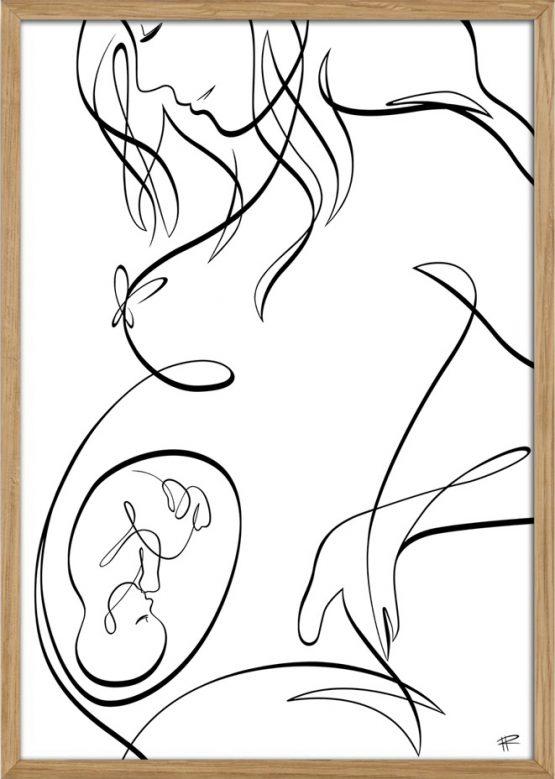 Gravid kvinde med baby