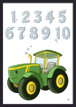 traktor tal plakat