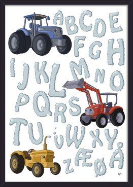 traktor alfabet plakat